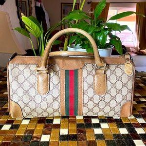 🔥❤️💚Gucci Web Boston 2 Way Vintage Bag ❤️💚🔥